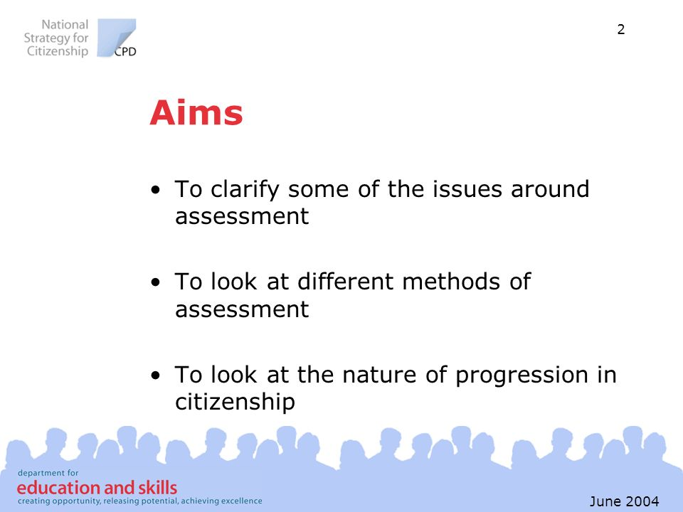 Aims To clarify some of the issues around assessment