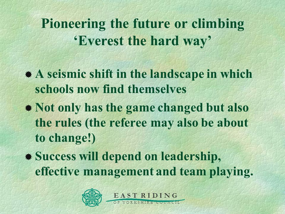 Pioneering the future or climbing 'Everest the hard way'