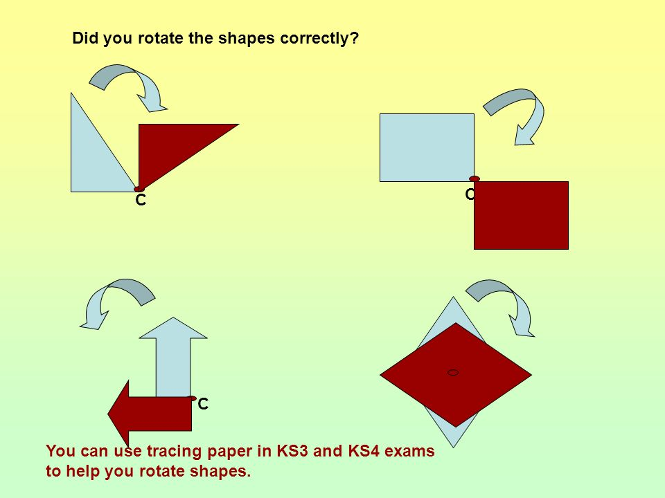 Did you rotate the shapes correctly