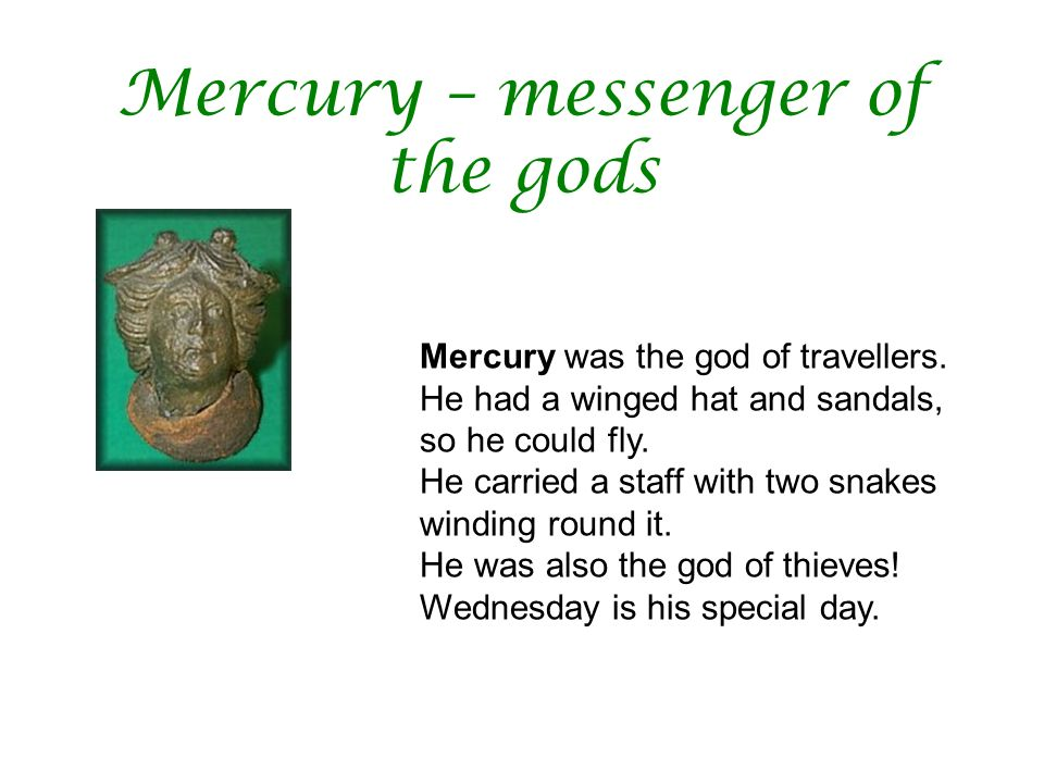 Mercury – messenger of the gods