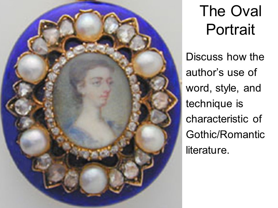 the oval portrait literary devices