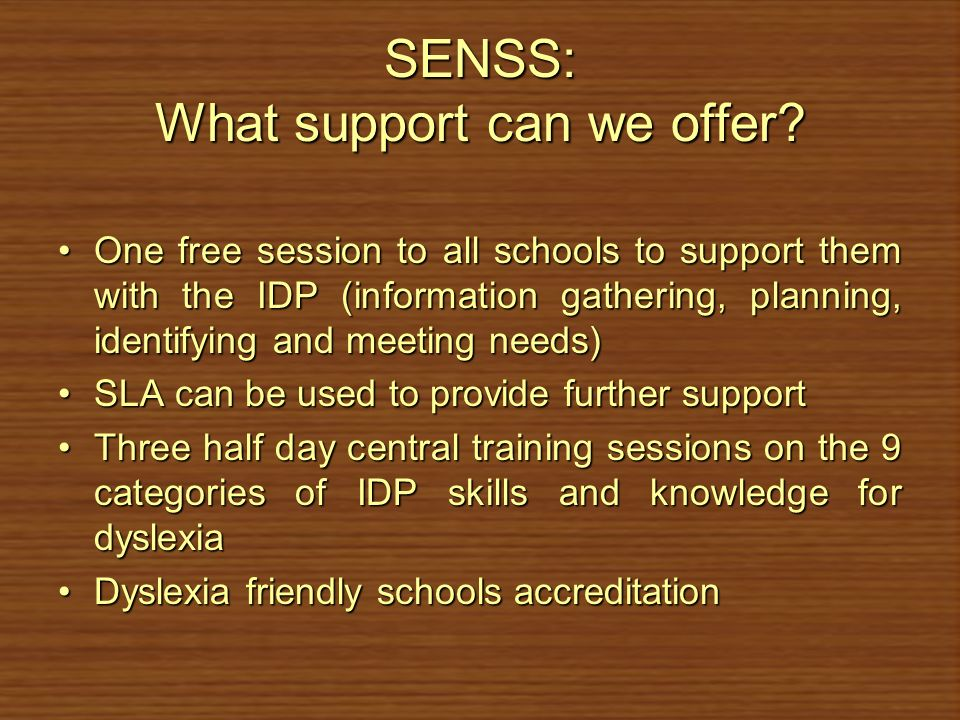 SENSS: What support can we offer