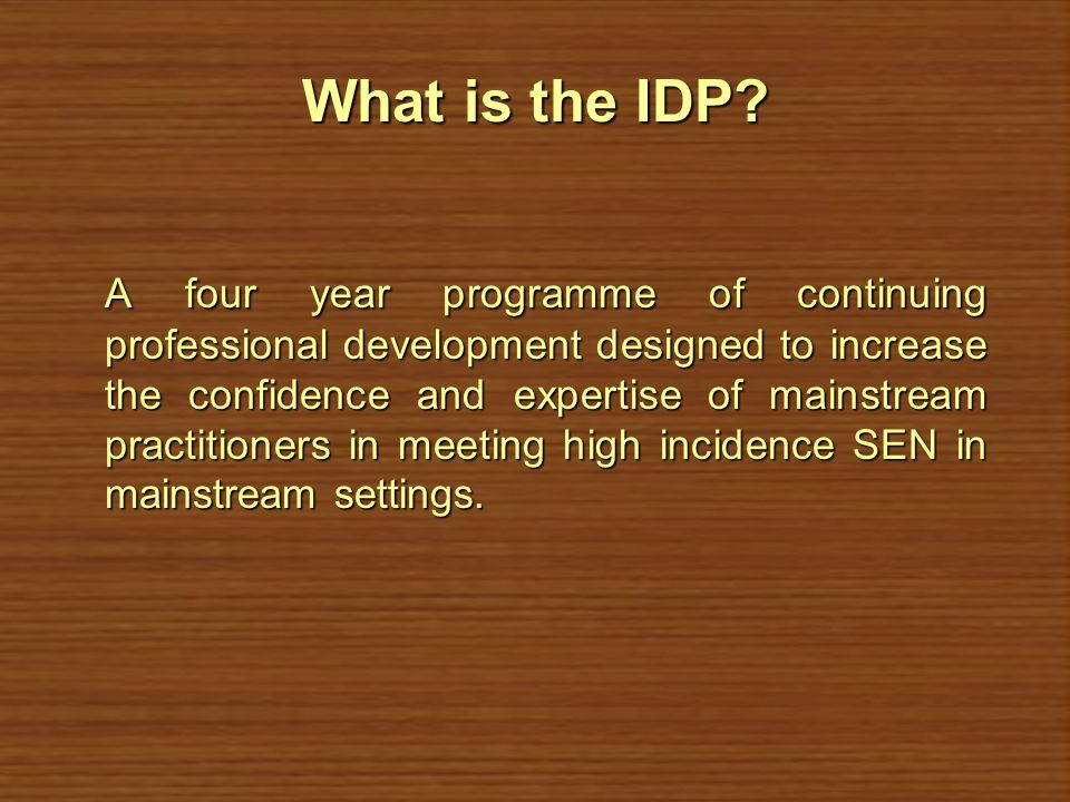 What is the IDP