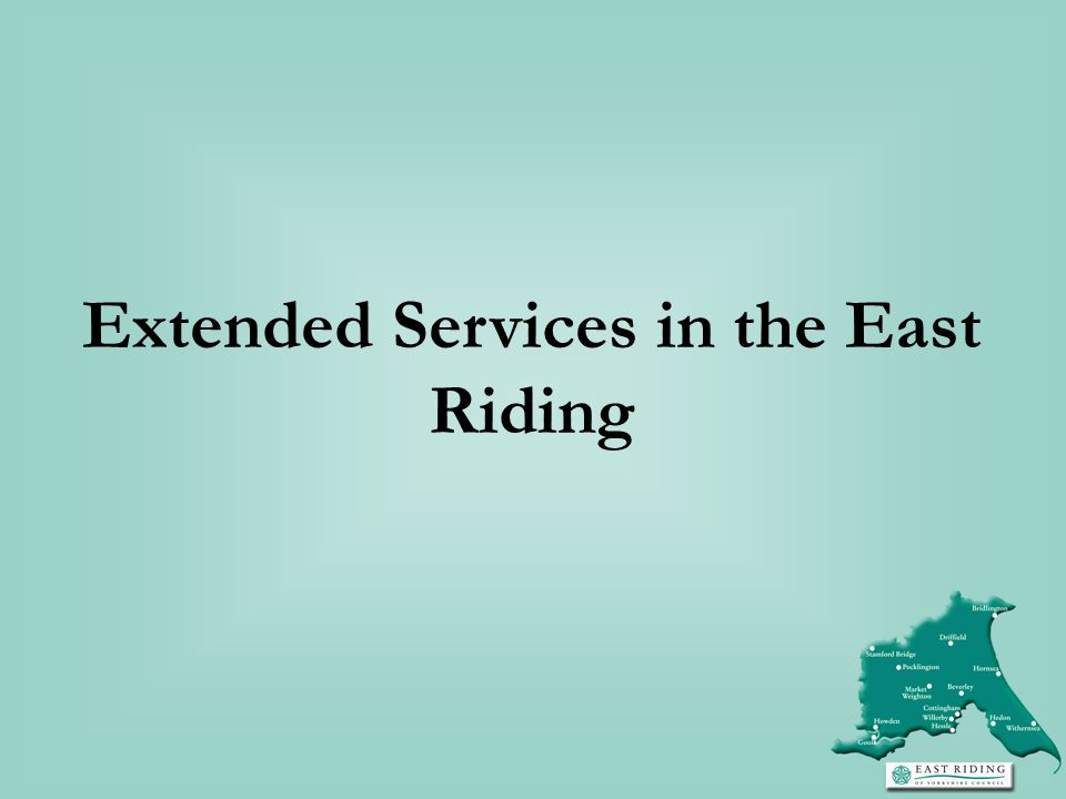 Extended Services in the East Riding
