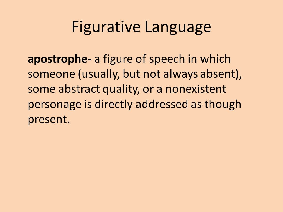 figures of speech ppt A figure of speech, which involves a direct comparison between two unlike  http ://wwwgastonk12ncus/resources/teachers/ppt/language%.