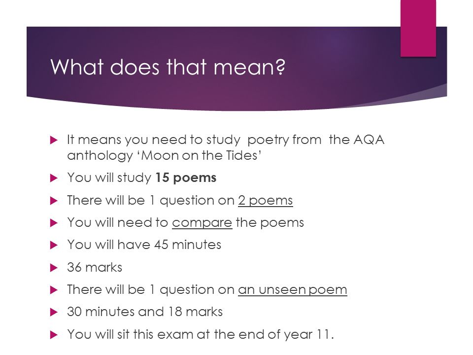 English literature gcse ppt video online download for What does mean lit