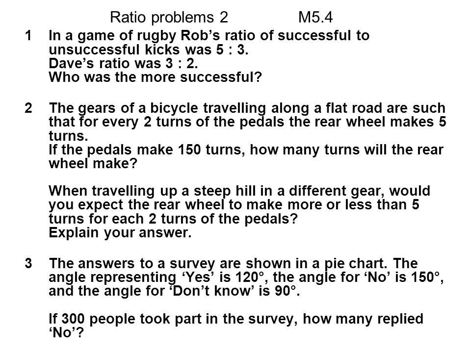 Ratio problems 2 M5.4