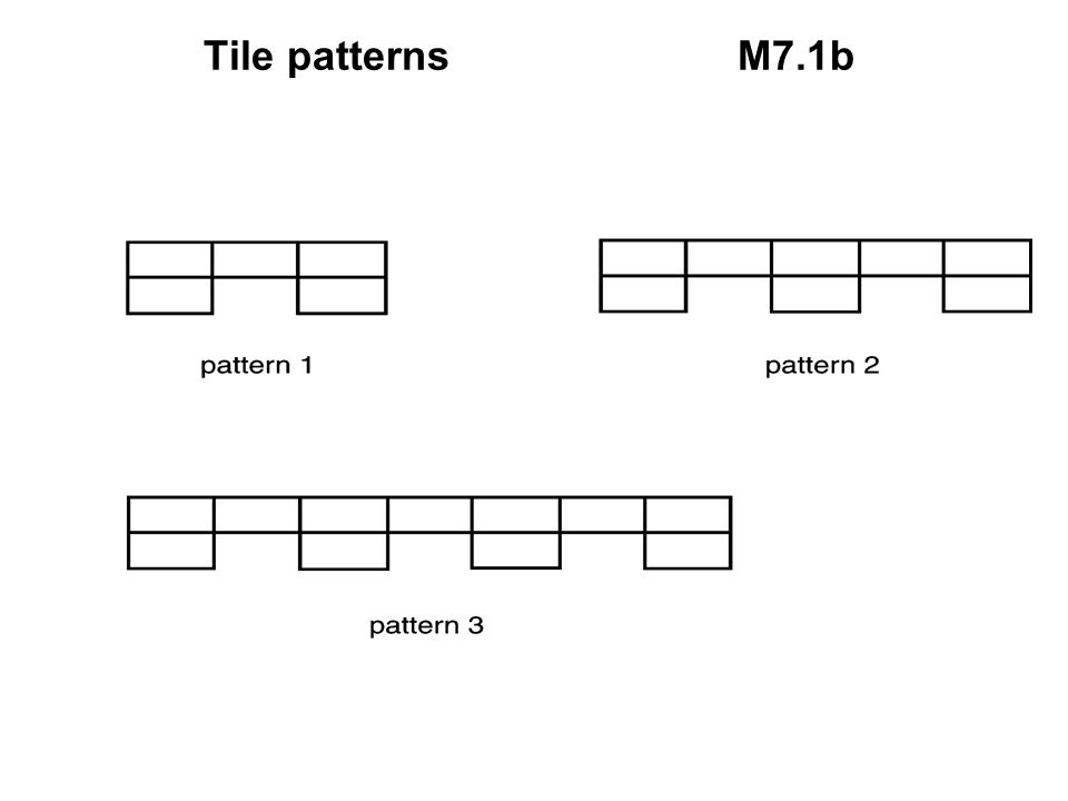 Tile patterns M7.1b