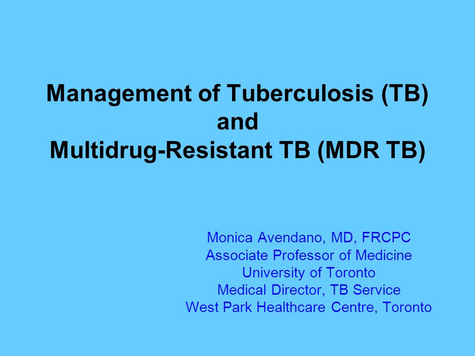 multidrug resistant tb Paul nunn of who summarized the available surveillance data on tb, mdr tb,  and xdr tb who, together with the international union against tuberculosis.
