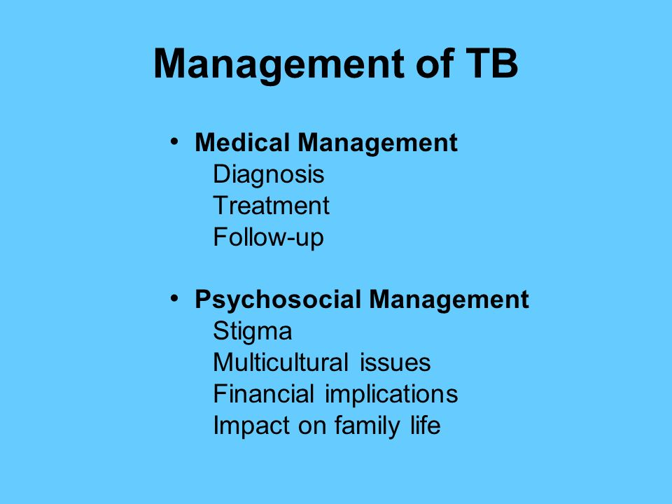 Diagnosis and Management of Latent Tuberculosis Infection