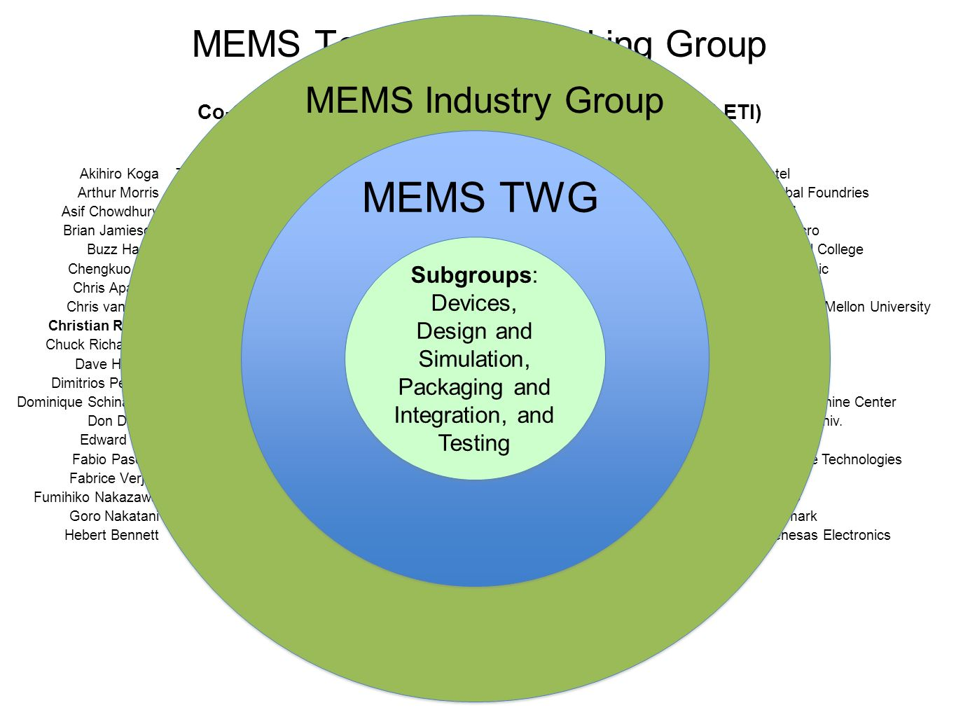 MEMS Technology Working Group
