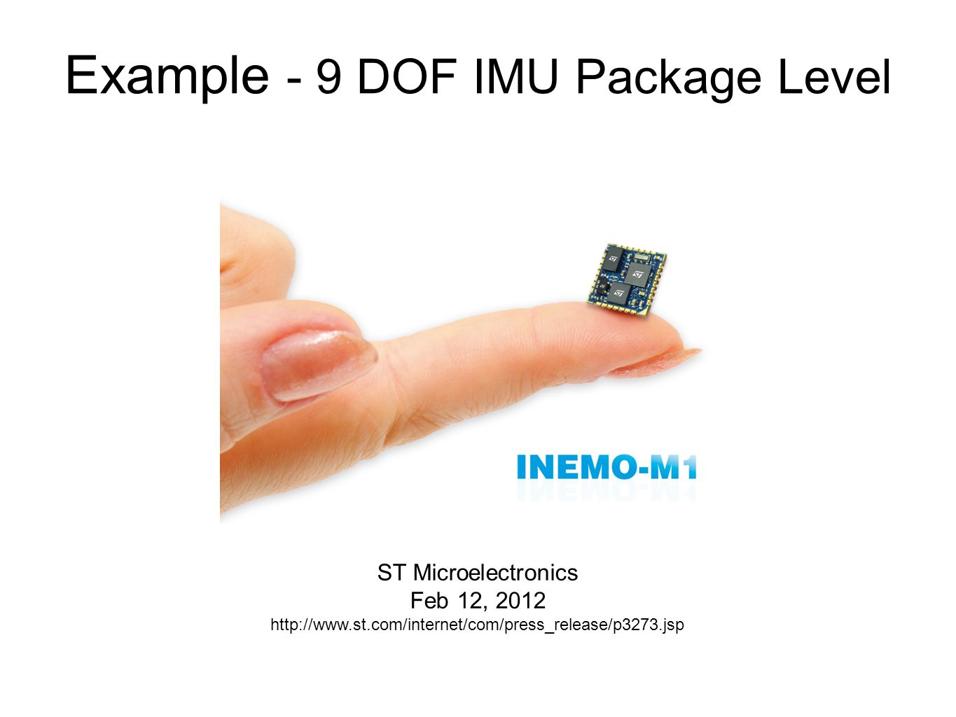 Example - 9 DOF IMU Package Level