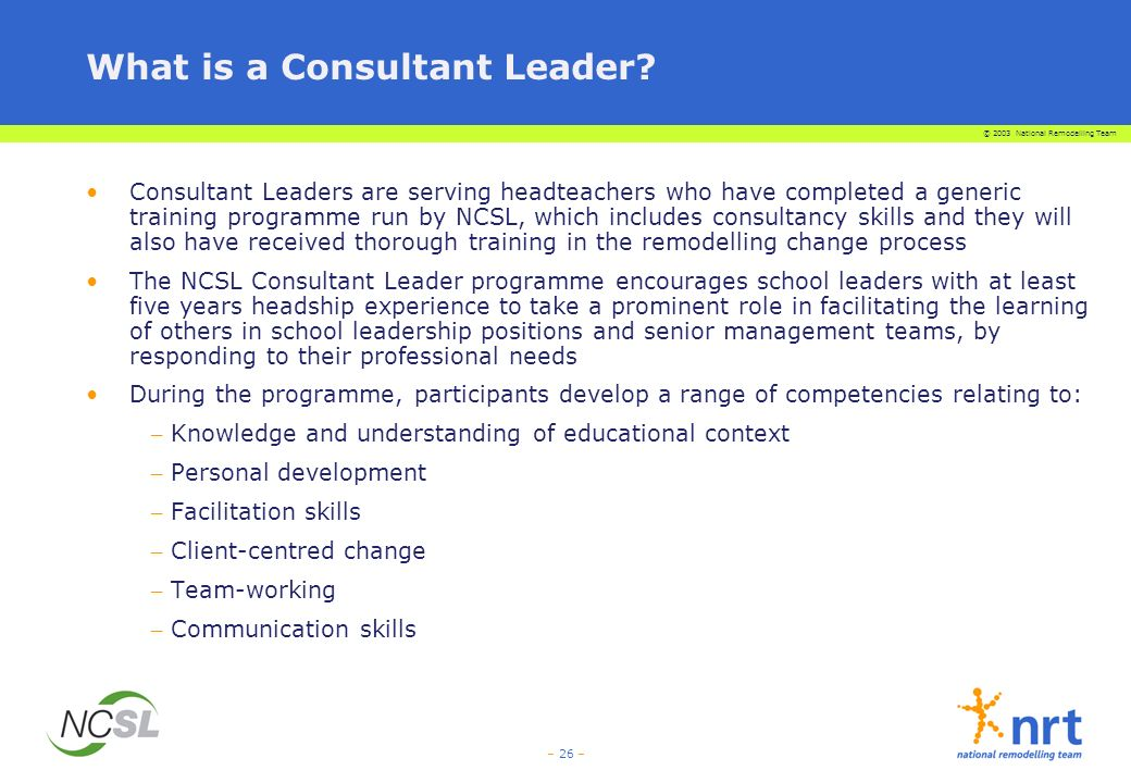What is a Consultant Leader