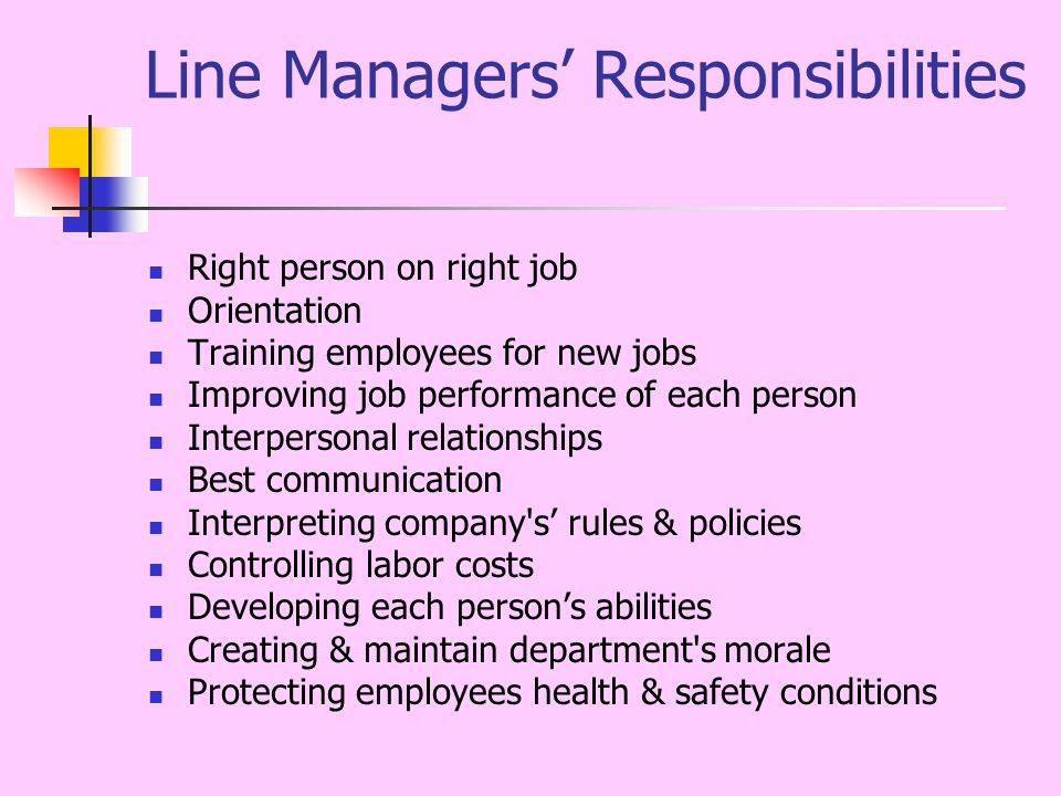 Evaluate the role and responsibilities of line managers in human resource management