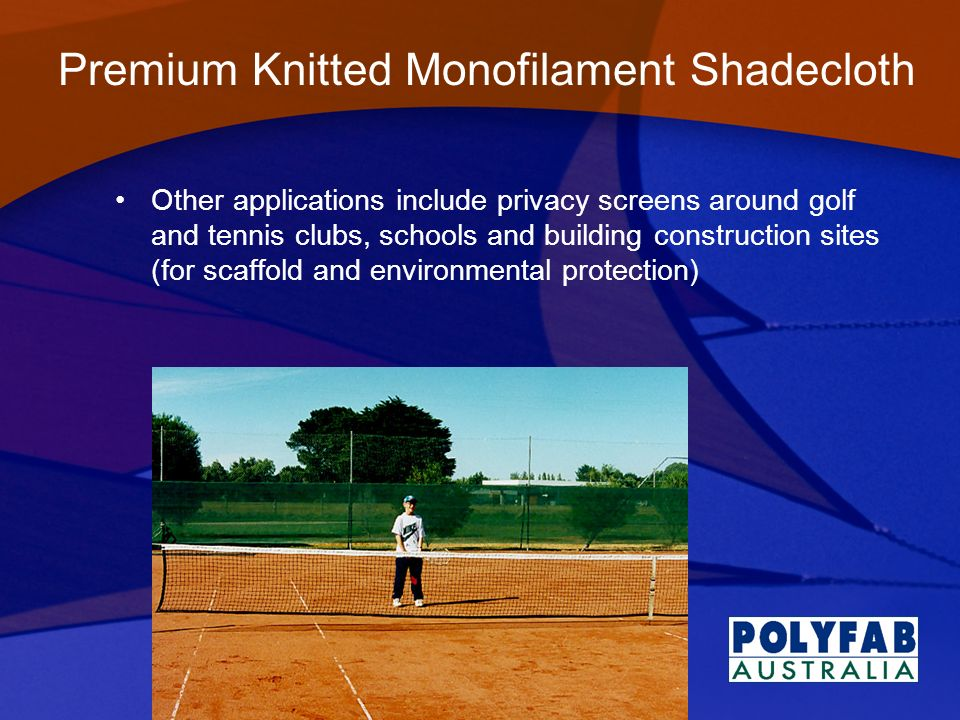 Premium Knitted Monofilament Shadecloth
