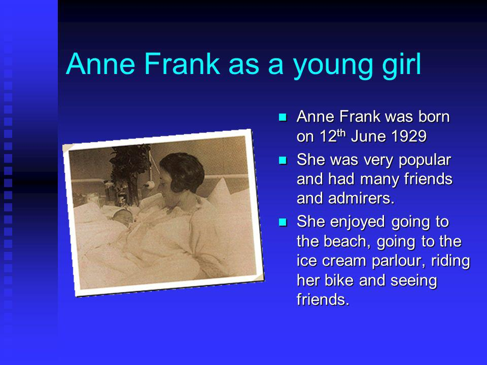 Anne Frank as a young girl