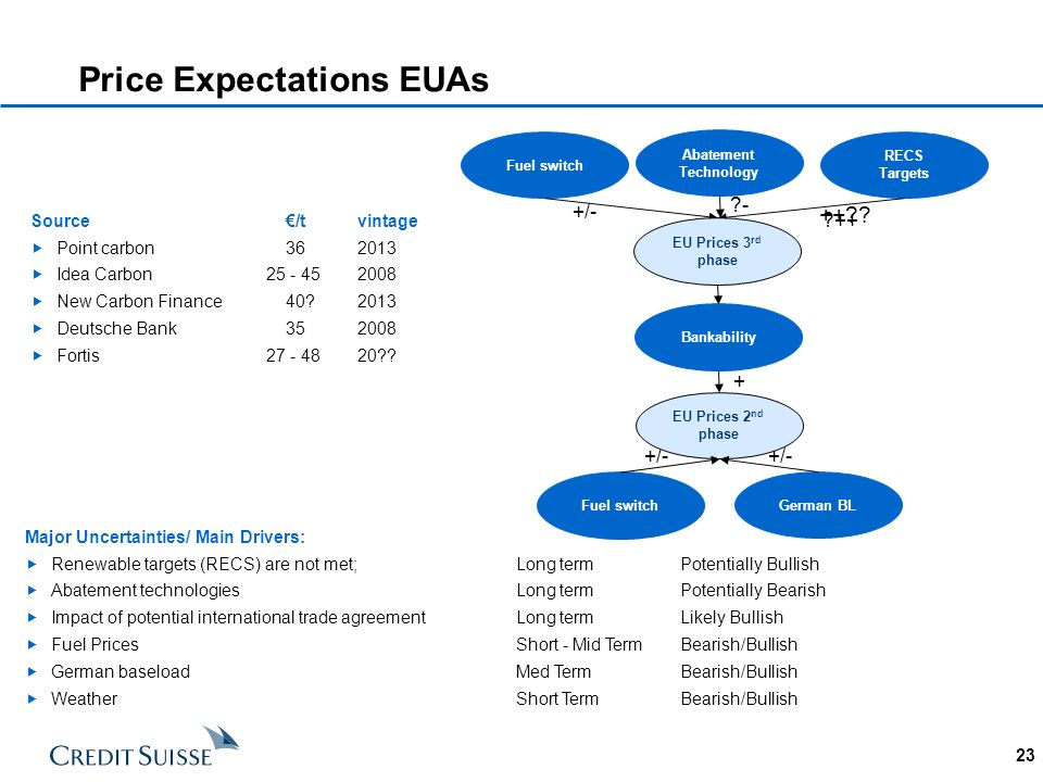 Price Expectations EUAs