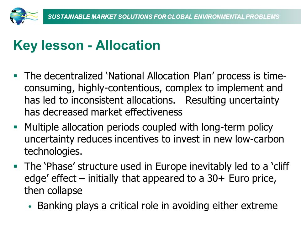 Key lesson - Allocation