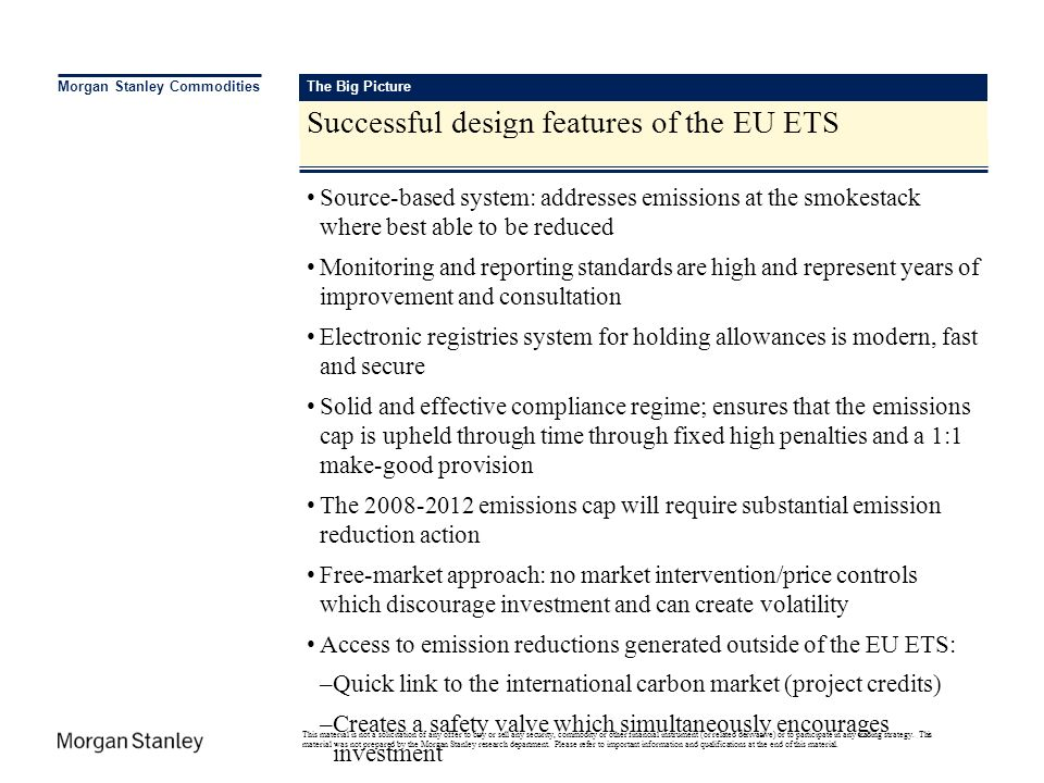 Successful design features of the EU ETS
