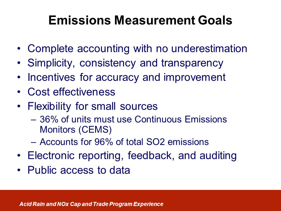 Emissions Measurement Goals
