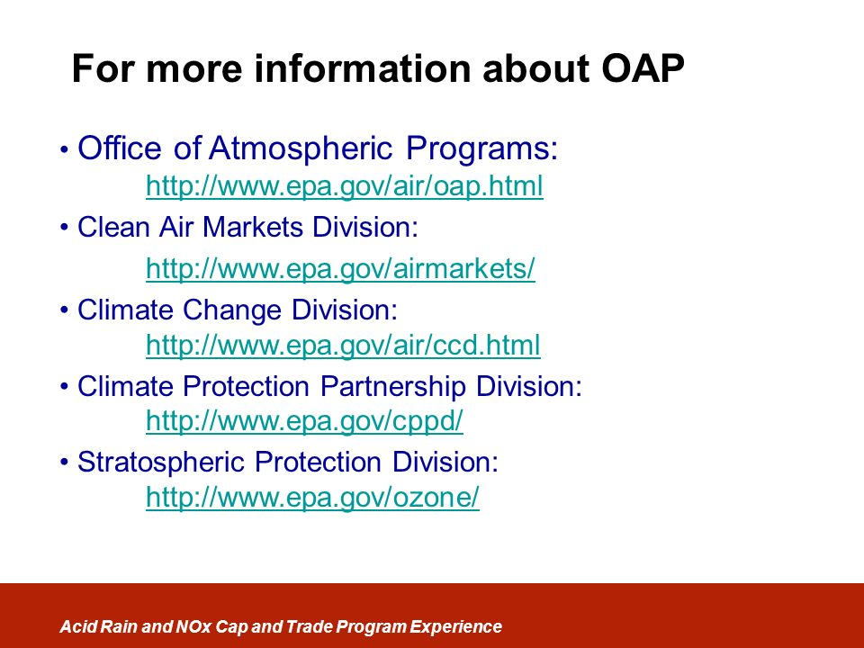 For more information about OAP