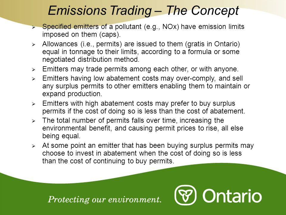 Emissions Trading – The Concept