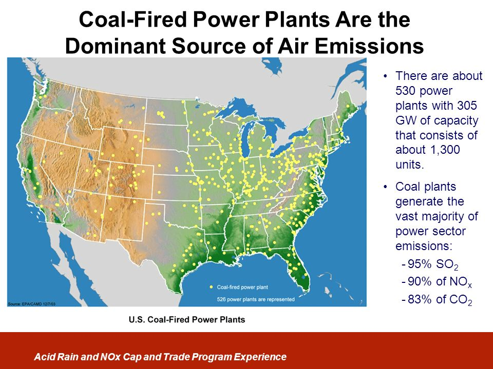 Coal-Fired Power Plants Are the Dominant Source of Air Emissions