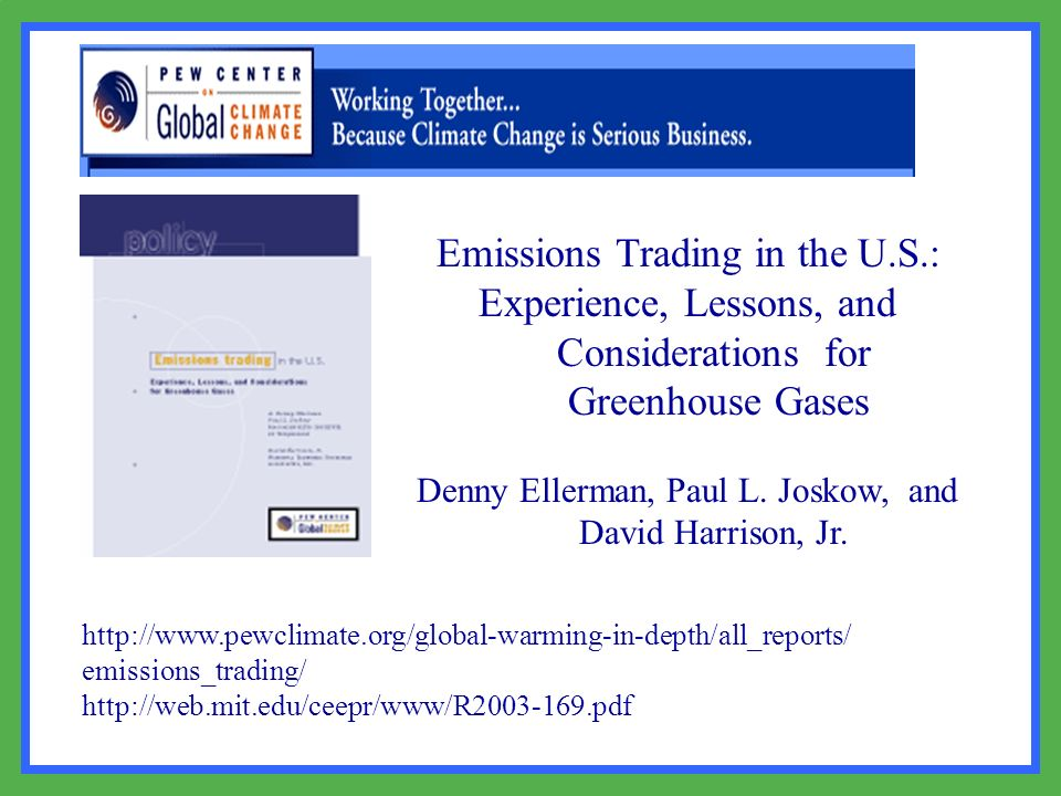 Emissions Trading in the U.S.: