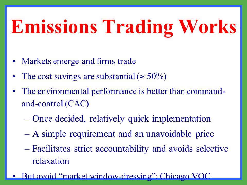 Emissions Trading Works