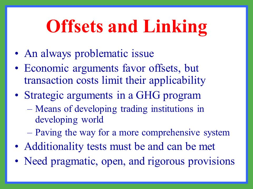 Offsets and Linking An always problematic issue