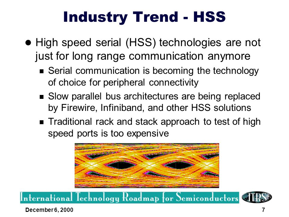 Industry Trend - HSS High speed serial (HSS) technologies are not just for long range communication anymore.
