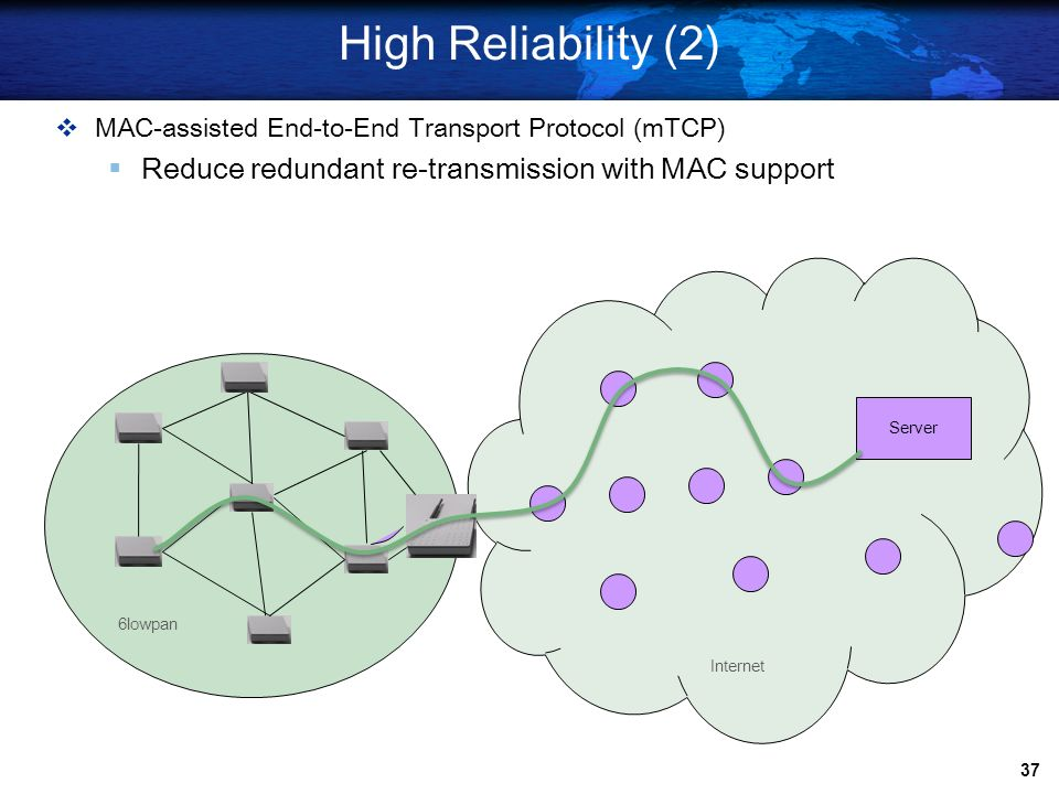 High Reliability (2) Reduce redundant re-transmission with MAC support