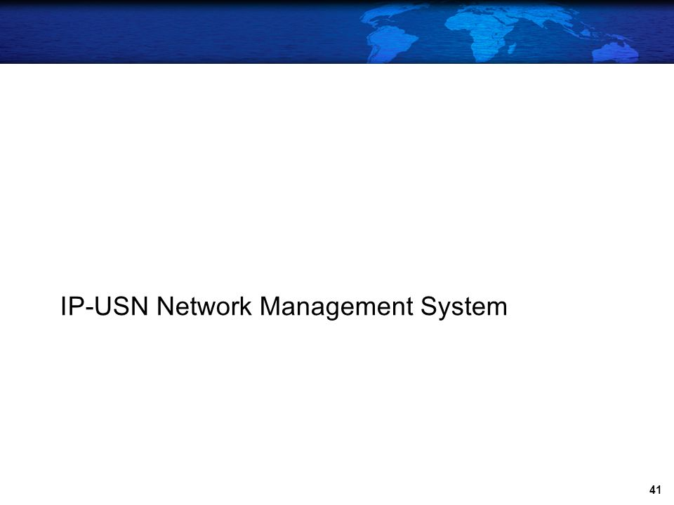 IP-USN Network Management System