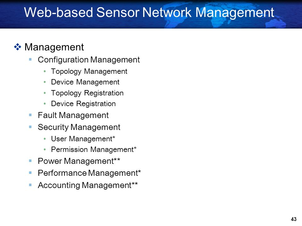 Web-based Sensor Network Management