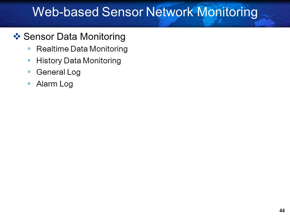 Web-based Sensor Network Monitoring