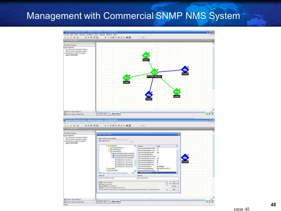 Management with Commercial SNMP NMS System