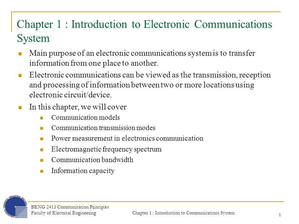 chapter 1 introduction to telecommunications Chapter 1 – introduction the first chapter introduces the problem space in terms  of making sense of very large, complex datasets and outlines the vision for.