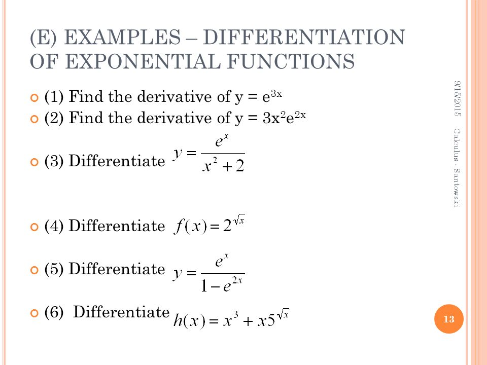 differentiation of exponential functions pdf