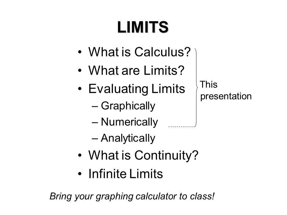 how to find limits calculus