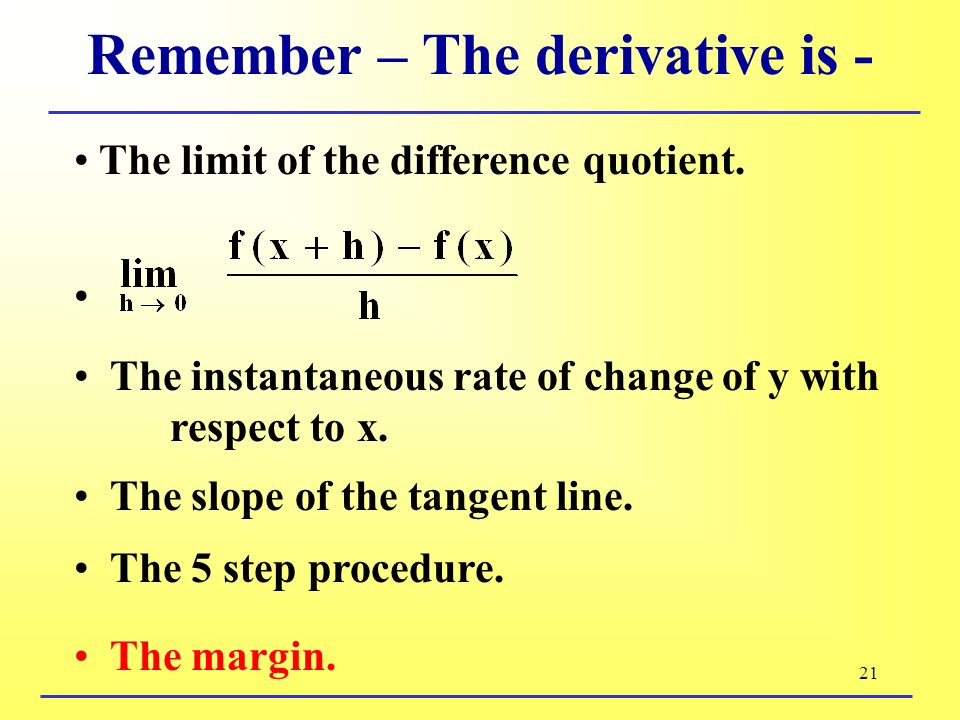 §2.1 Some Differentiation Formulas - ppt download