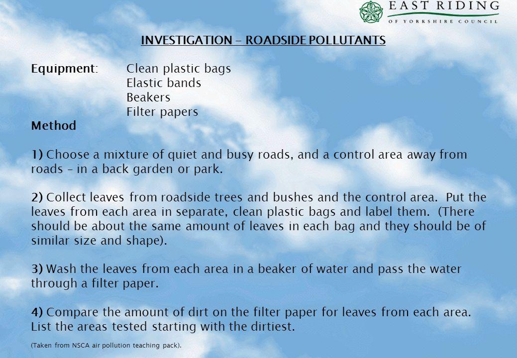 INVESTIGATION - ROADSIDE POLLUTANTS