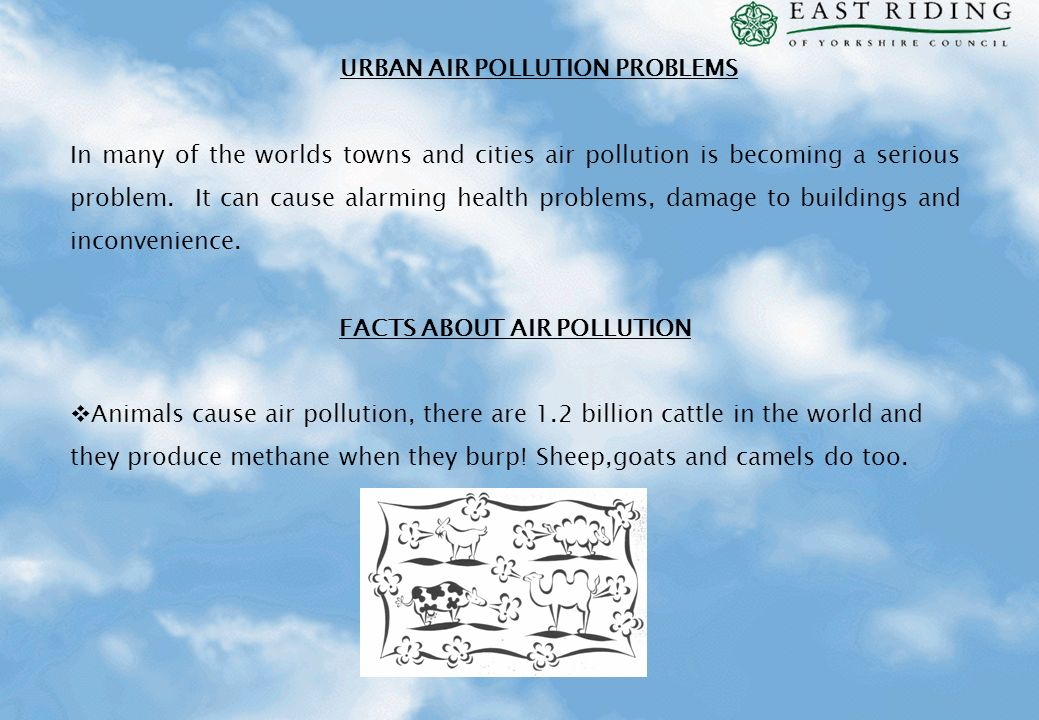 URBAN AIR POLLUTION PROBLEMS FACTS ABOUT AIR POLLUTION