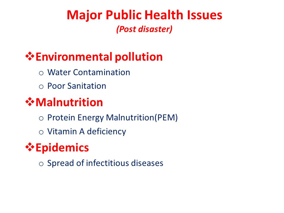 Post Disaster Public Health Challenges Ppt Download