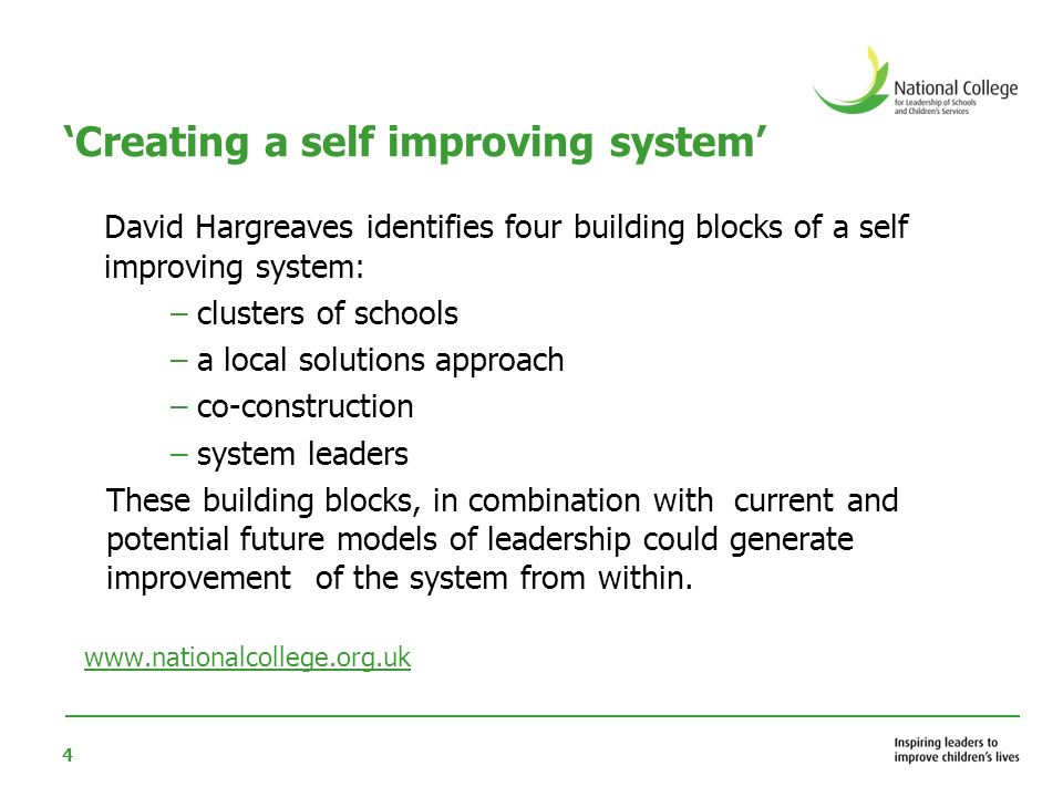 'Creating a self improving system'
