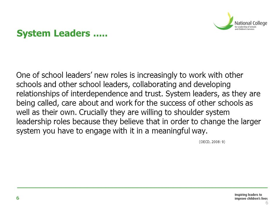 System Leaders .....