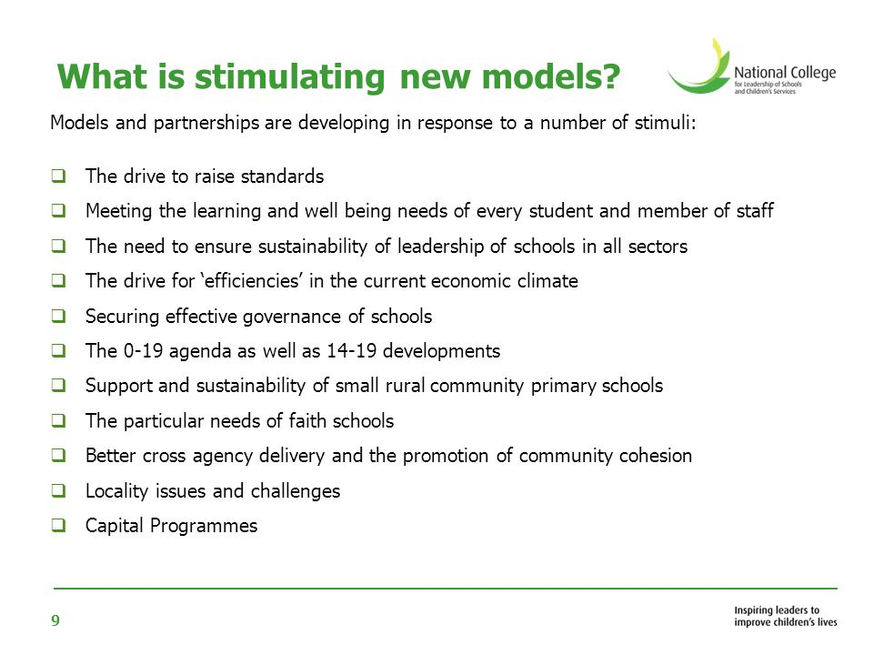 What is stimulating new models