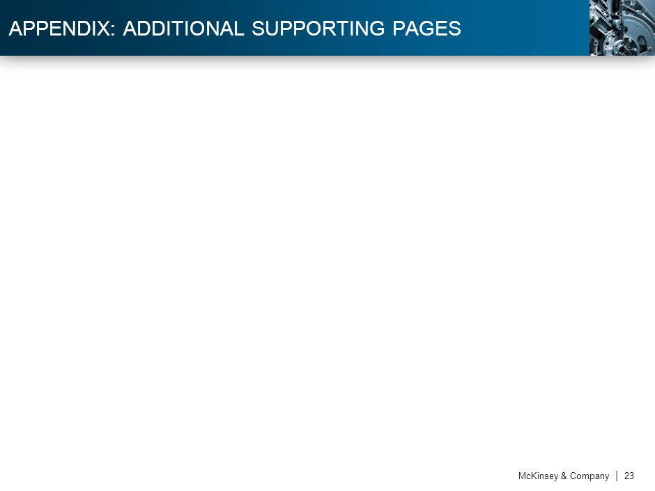 APPENDIX: ADDITIONAL SUPPORTING PAGES