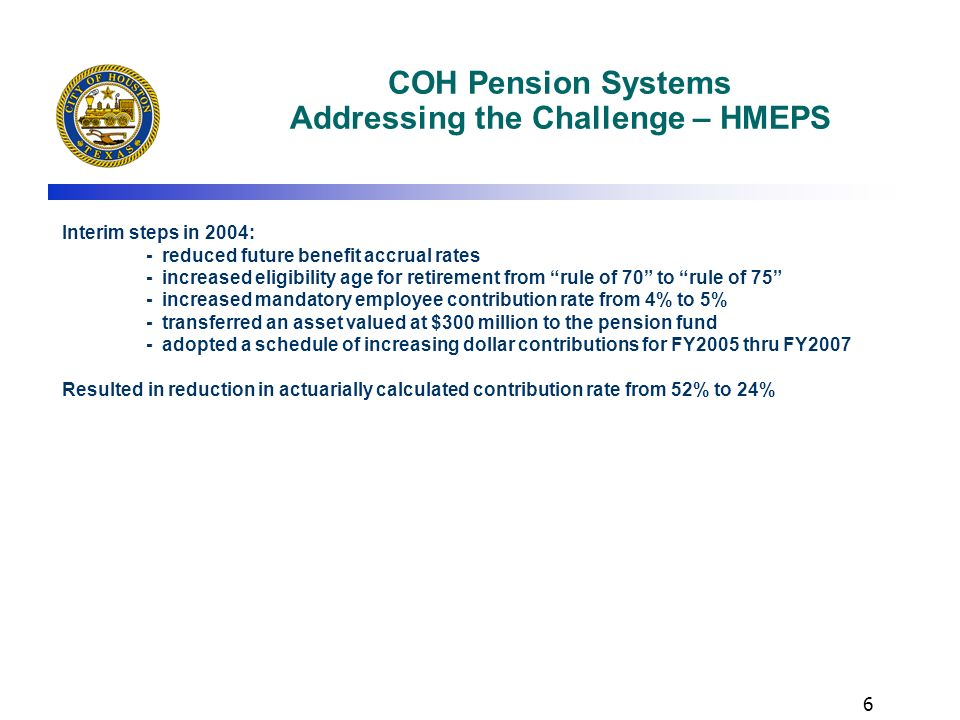 COH Pension Systems Addressing the Challenge – HMEPS