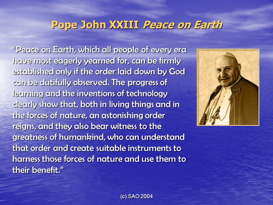Pope John XXIII Peace on Earth