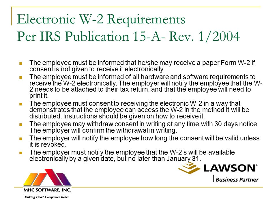 W-2 Solutions from MHC Software, Inc. - ppt download